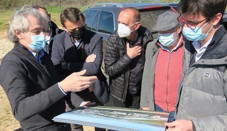 Pla obert de moviments de terres per a la construcció del nou polígon industrial Torre Solé de Lleida