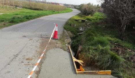 Imatge d'una de les actuacions de millora d'un camí de l'Horta de Lleida, el 16 de març del 2021