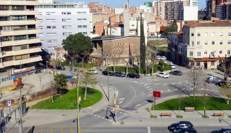 Vista aèria de la plaça de l'Exèrcit de Lleida.
