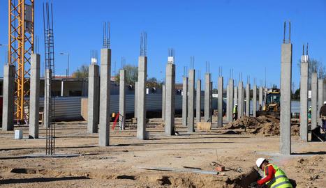 Les obres de construcció del nou col·legi.