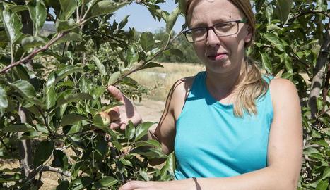 Maria Casoliva, a la seua explotació del Mas Pinyol a Sanaüja.
