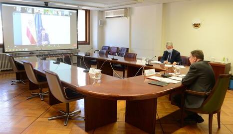 El ministre Planas, en la seua intervenció ahir a l'assemblea de Fepex, en la qual va participar Afrucat.