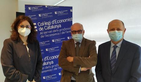 Sílvia Castro, Eduardo Enrech i Joan Turmo, poc abans de començar la jornada.