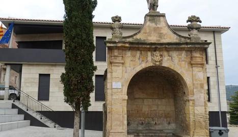 Imatge d'arxiu de la plaça de la Font d'Os de Balaguer.