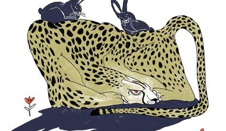 un guepardo tranquilo.