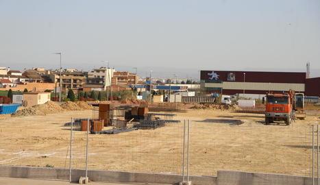 Les obres de la nau de Correus Express a Torrefarrera.