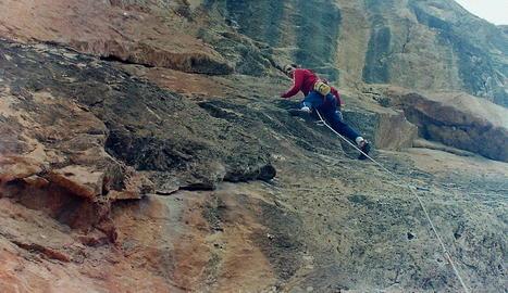RECORDS. El Joan i el Mamerto tenen fotos d'escalada amb més de 40 anys d'història