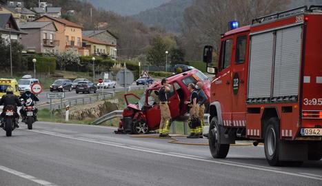 Accident amb dos ferits greus divendres a la Seu d'Urgell.