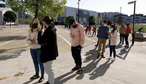 La UdL estrena els cribratges de covid-19 a les universitats catalanes amb més de 400 PCR el primer dia