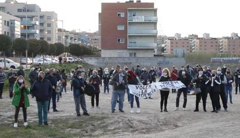 Joan Talarn, Miquel Pueyo, Chakir el Homrani i Mariama Sall, ahir a la Paeria.