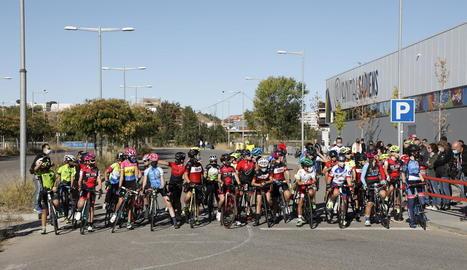Una prova de la Copa Catalana infantil de ciclisme celebrada recentment a Lleida.