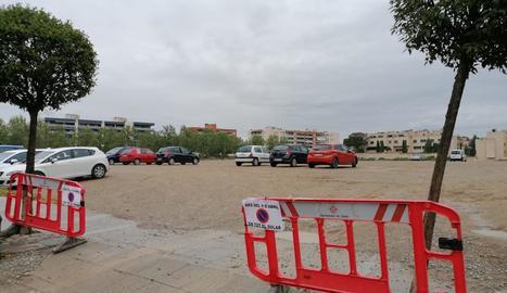 Preparatius per convertir en parc el solar d'Alcalde Pujol