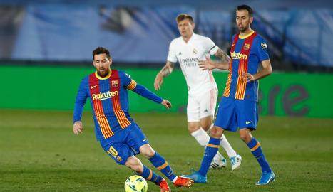 Leo Messi va estar molt actiu durant tot el partit, però es va quedar una altra vegada sense marcar en el que podia haver estat el seu últim clàssic com a blaugrana.