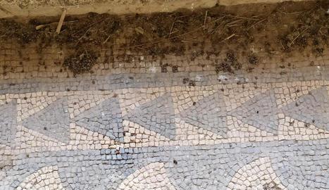 Actual estat del jaciment de la Vil·la Fortunatus.