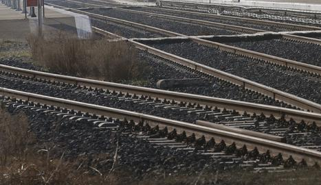 Vies de tren.