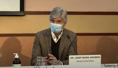 Josep Maria Argimon, ahir en la roda de premsa.