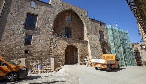 Les obres al castell de les Pallargues.