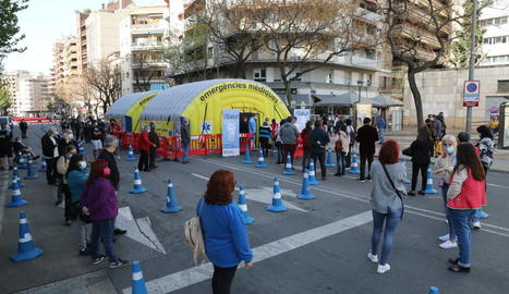 Durant la Setmana Santa, Salut va fer un cribratge a la ciutat de Lleida davant l'augment de casos.