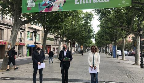 L'acte de presentació de la Diada de Sant Jordi a Lleida.