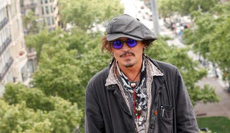 L'actor nord-americà Johnny Depp, durant la presentació de la seua pel·lícula a Barcelona.