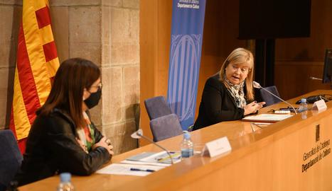 La consellera Àngels Ponsa, ahir al departament de Cultura.