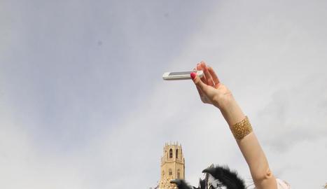 selfie. La desfilada és molt espectacular, però abans i després també es poden veure imatges molt divertides.