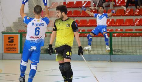 Jugadores del Llista celebran uno de los goles.