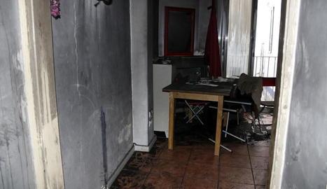 Estat en el qual va quedar el pis després del fatal incendi, el 2016.