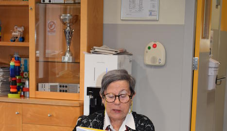 Magda Costafreda participa activament en totes les activitats del centre amb els seus escrits.