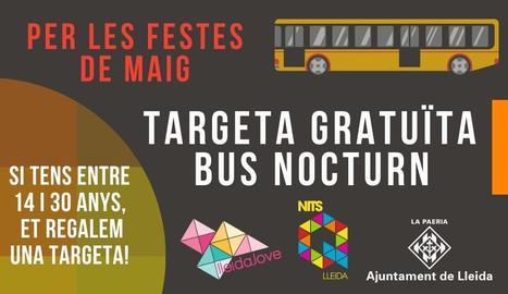 La Paeria regala una targeta de bus a joves de Lleida per fer-ne ús durant la Festa Major