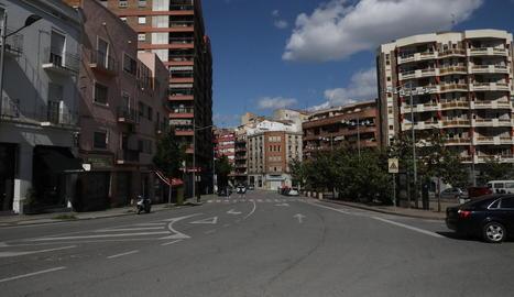 Vista del carrer Cardenal Cisneros, on va tenir lloc l'agressió.