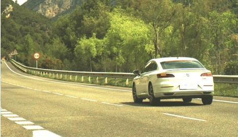 Imatge del vehicle 'caçat' durant un control dels Mossos.