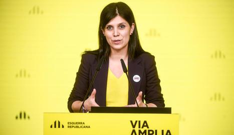 Marta Vilalta, secretària general adjunta d'ERC, ahir.
