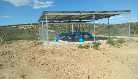 L'estació de bombatge de la nova zona de regadiu.