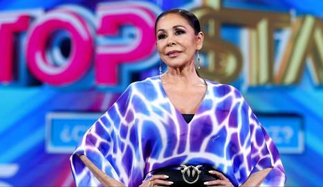 """Isabel Pantoja en la presentaciòn de """"Top Star"""""""
