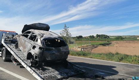 El turisme implicat en l'accident a Artesa de Lleida.