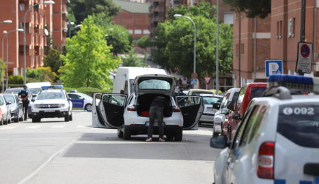 L'incident va provocar un gran desplegament de mossos i urbans.
