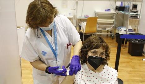 Vacunacions ahir al pavelló Onze de Setembre de Lleida.