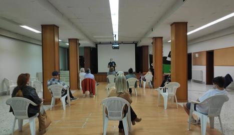 La conferència d'Àlex Florensa a la Pobla de Segur.