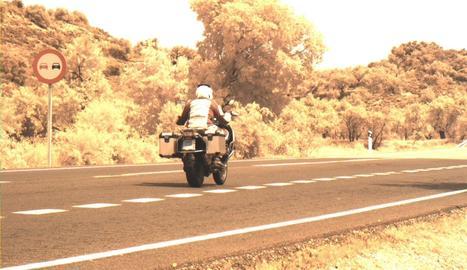 El motorista enxampat pel radar a Les Borges Blanques