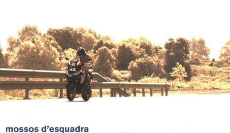El motorista 'caçat' pel radar a l'N-240 al terme municipal de Lleida.