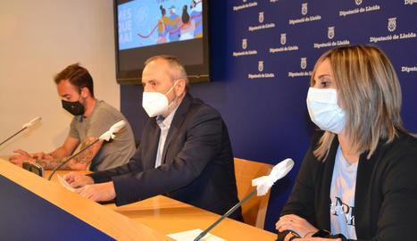 Presentació ahir de la iniciativa a la Diputació de Lleida.