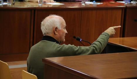 Francisco Martín durant el judici a l'Audiència.