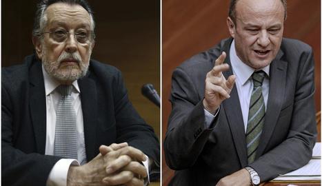 El ja subdelegat Rafael Rubio i l'exvicealcalde Alfonso Grau.