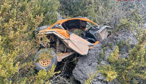 Imatge de l'estat del boggie després de l'accident