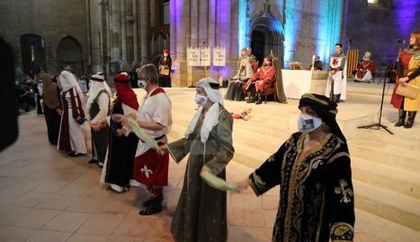 Recreació històrica del casament real entre el comte de Barcelona Ramon Berenguer IV i Peronella d'Aragó
