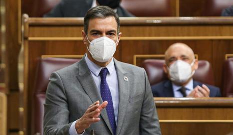 Pedro Sánchez, la setmana passada al Congrés.