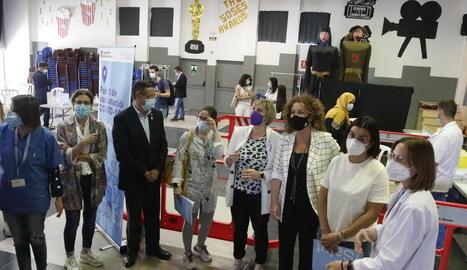 La vacunació a Soses s'ha centralitzat a la sala de ball.