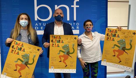 Presentació ahir a Binèfar del festival Imaginaria.
