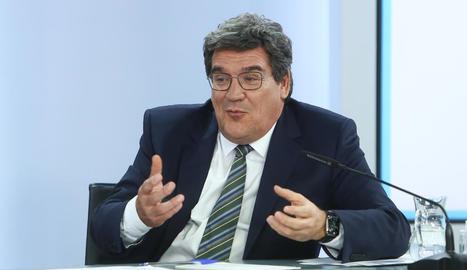 El ministre de Seguretat Social i Migracions, José Luis Escrivá, confia en el pacte de pensions.